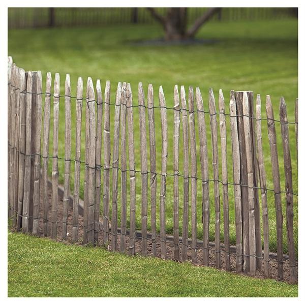 Holzwaren 24 Kastanienzaun Aus Englischer Edelkastanie 90x460 Cm